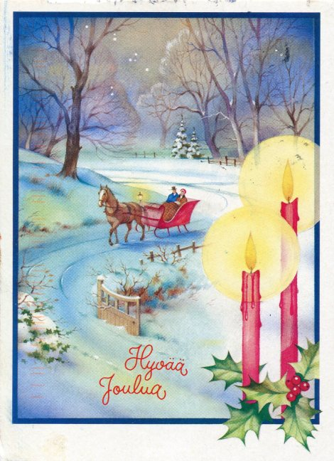 finland-christmas-sleigh.Hyvaa Joulua ja Onnellista Uutta Vuotta