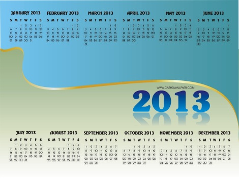 2013 calendar canada