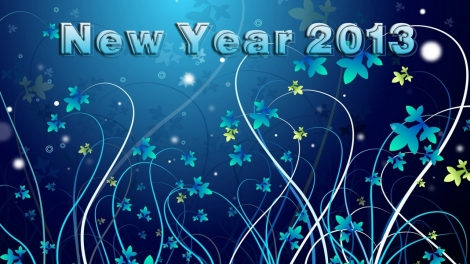 720_New Year HD Blue Wallpaper