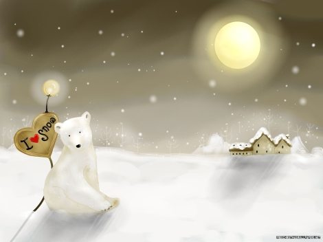 Christmas-Bear-and-Village-72864