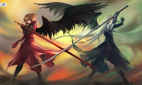 Commission___One_Winged_Angels_by_yukikominazuki