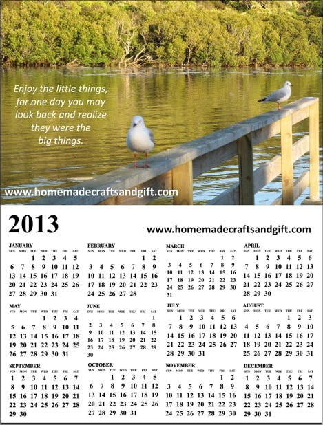 HM11 Big A4 A3 Calendar 2013 colorful picture