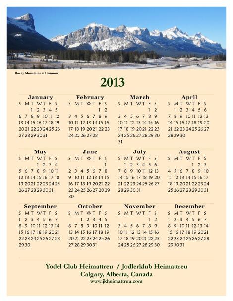 JKH 2013 calendarA