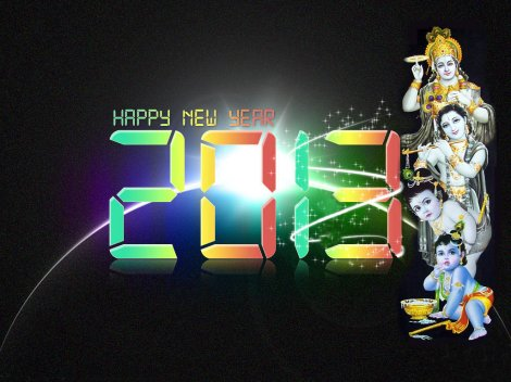 New Year Hd Wallpapers 2013 hindu