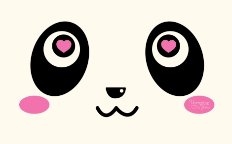 Panda_Face_Loves_You_Wallpaper_by_VampireJaku