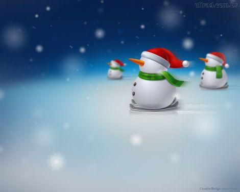 papel-de-parede-bonecos-de-neve
