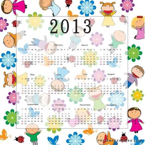Vector_Calendar_2013_kids