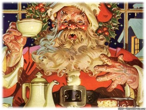 wallpaper-papai-noel-tomando-cafe.santa drinking.coffee