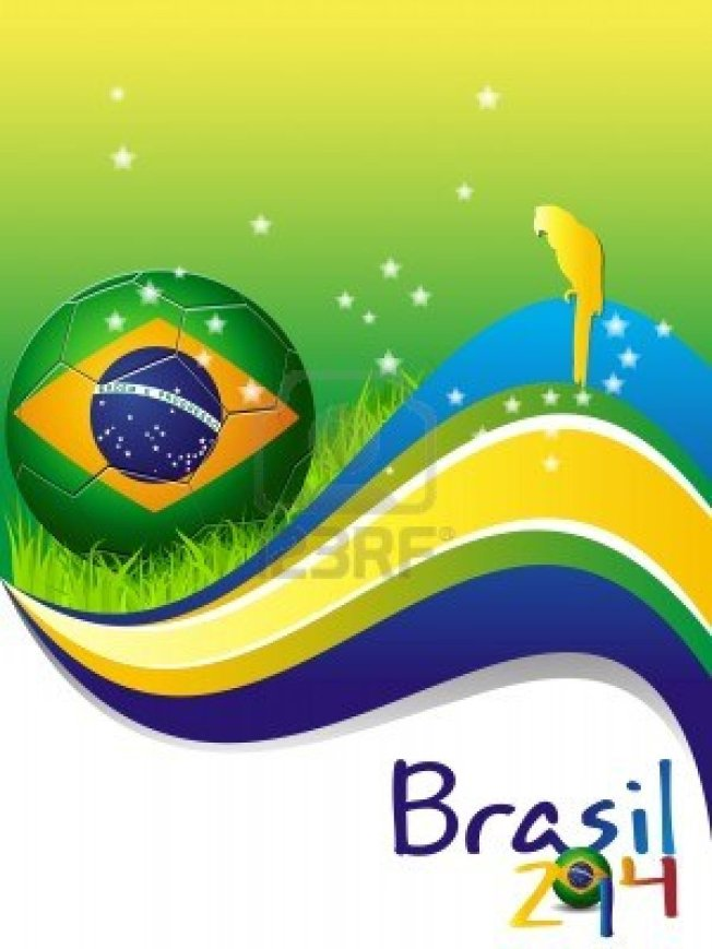 13986692-affiche-van-brazilia-2014-voetbal-voetbal