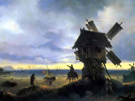 aivazovsky-windmill-on-the-seashore