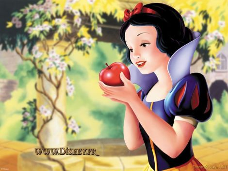 classic-disney-snow-white.branca.de.neve.maçã.apple