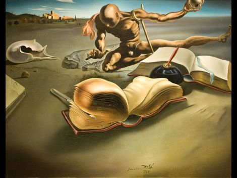 dali-book-transforming-itself-into-a-nude-woman