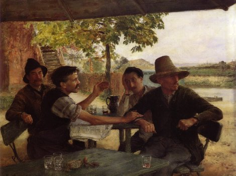 emile-friant-discussion-politique