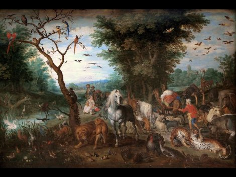jan-brueghel- the-elder-paradise-landscape-with-animals-entering-noahs-ark