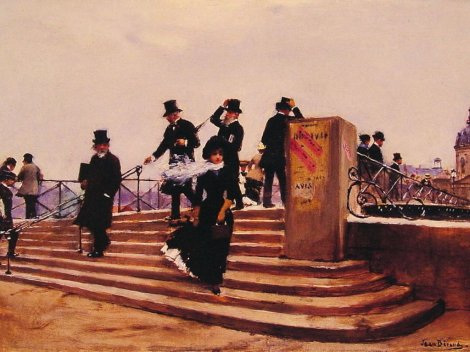 jean-beraud-pont-des-arts-windy-day