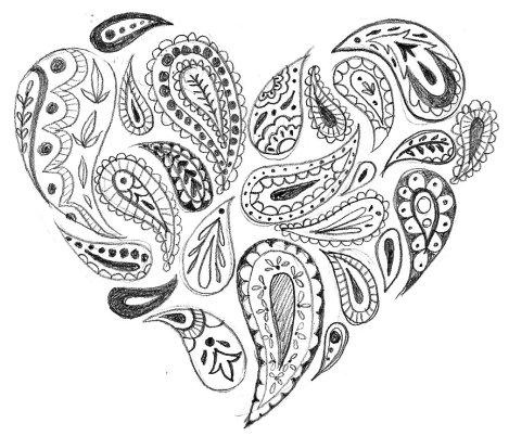 paisly heart