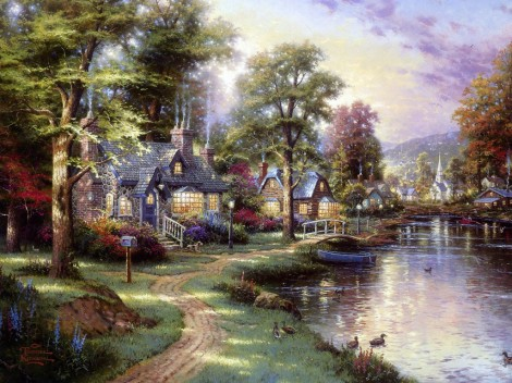 thomas-kinkade-along-the-lighted-path