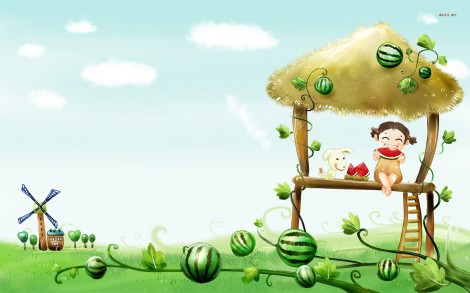 10602-girl-eating-watermelon-1680x1050-artistic-wallpaper