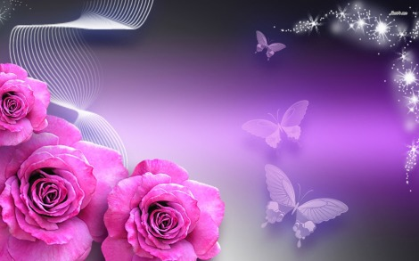 11522-butterflies-and-pink-roses-1680x1050-digital-art-wallpaper