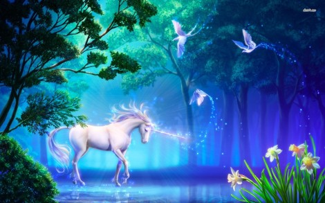 11634-unicorn-in-the-forest-1680x1050-fantasy-wallpaper