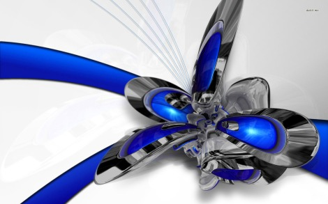 6-chrome-flower-1680x1050-3d-wallpaper