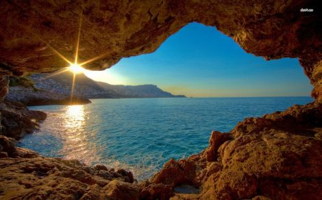 6712-view-from-cave-at-sunset-1680x1050-nature-wallpaper