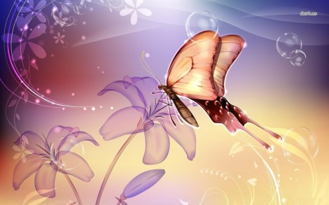 7272-butterfly-on-a-flower-1280x800-digital-art-wallpaper