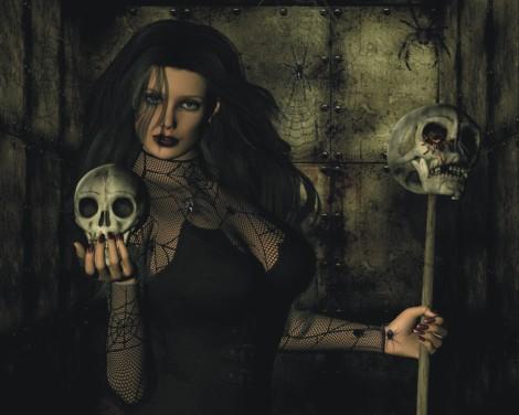 Black Spider Girl Witch