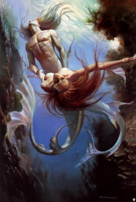 BorisVallejo_1981_triton_and_the_mermaid