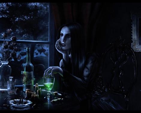 Dark Witch Making Elixir