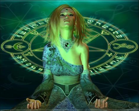 Girl Satanic Witch