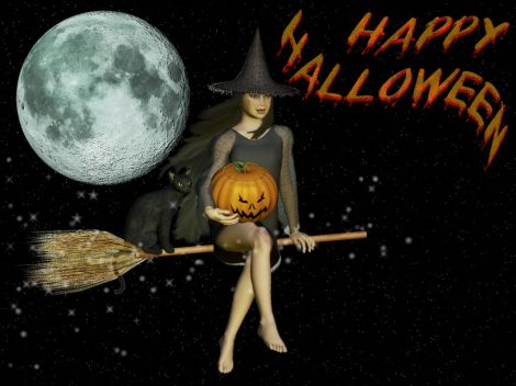 Happy-Halloween-Witch-Wallpaper