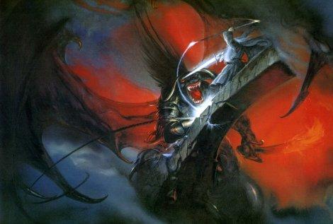 John Howe - Gandalf et le Balrog