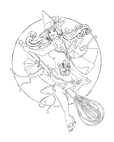 Kitchen-Witch-LineArt-LR