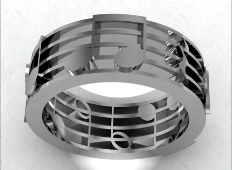 music note ring 5 bar 3