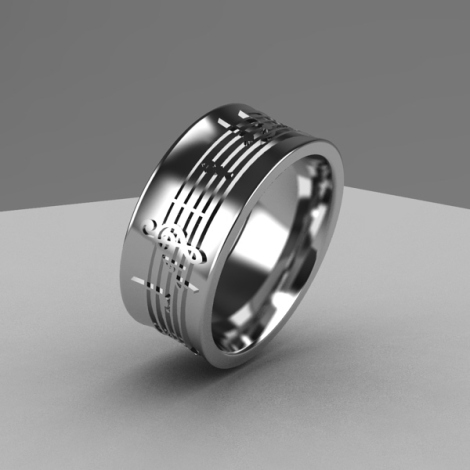 Music notes ring