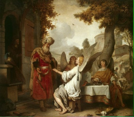 new.hermitage.Eeckhout_Gerbrandt_Jansz_van_den-ZZZ-Abraham_and_the_Three_Angels