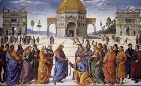 Pietro_Perugino_Consegna delle chiavi