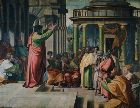 Discorso di san Paolo agli Ateniesi, uno dei cartoni di Raffaello per gli arazzi della Sistina, V&AM, Londra